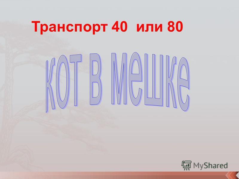 Транспорт 40 или 80