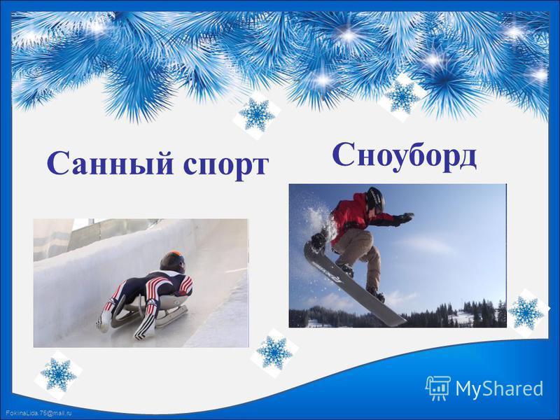 FokinaLida.75@mail.ru Санный спорт Сноуборд