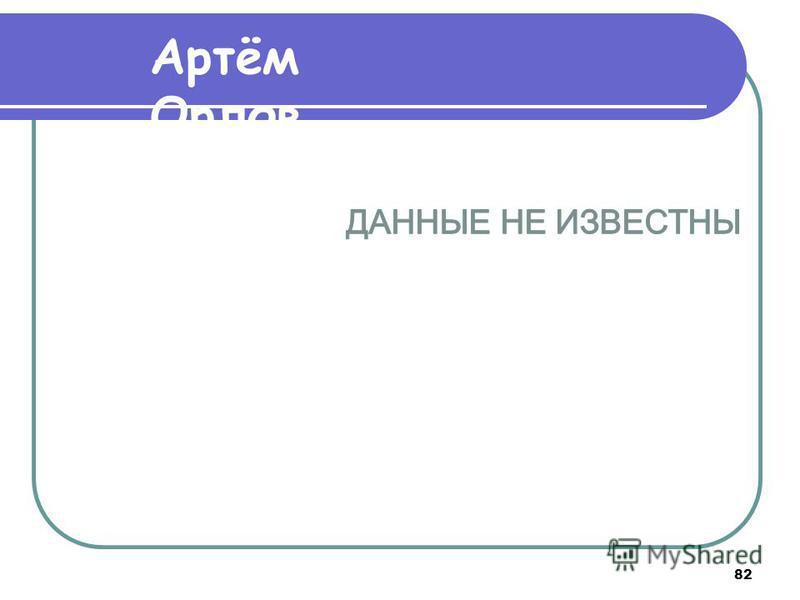 82 Артём Орлов