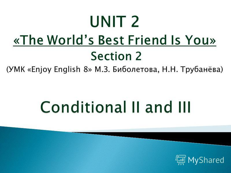 UNIT 2 «The Worlds Best Friend Is You» Section 2 (УМК «Enjoy English 8» М.З. Биболетова, Н.Н. Трубанёва)
