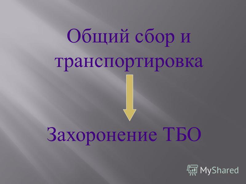 Общий с бор и транспортировка Захоронение Т БО