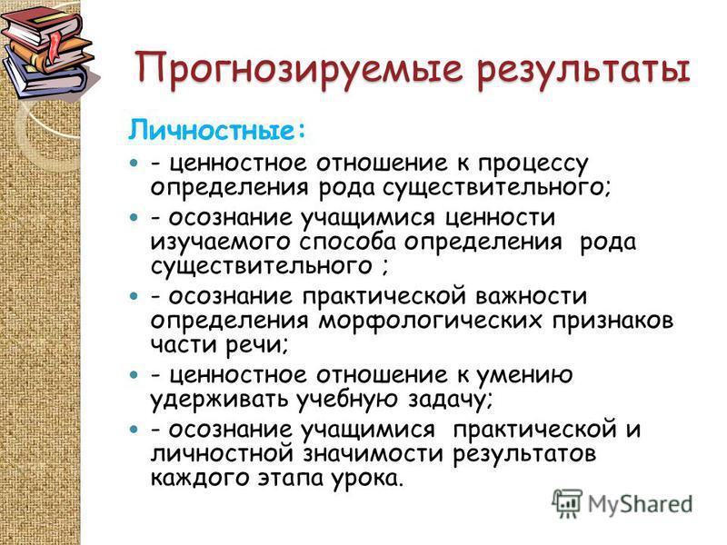 Конспект урока по русскому языку школа россии род имен существительных