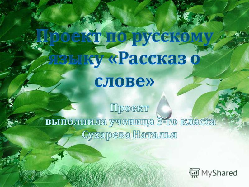 проект по русскому языку слово полотна