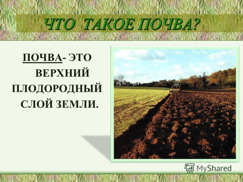 Презентация на тему почвы для 3 класса умк