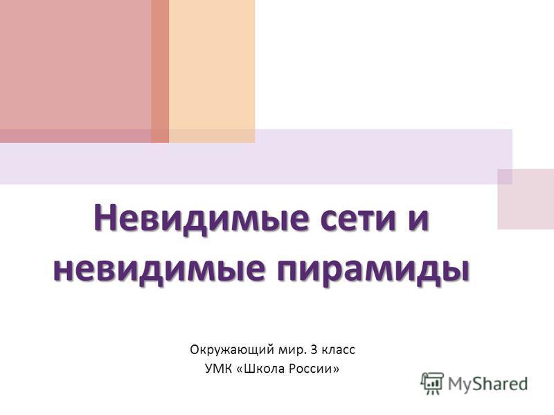 Невидимые сети и невидимые пирамиды Окружающий мир. 3 класс УМК « Школа России »
