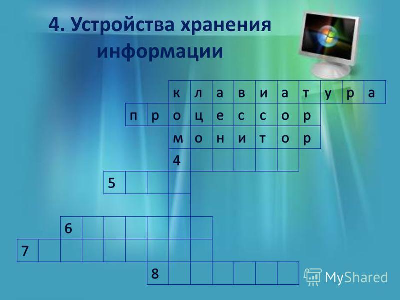 4. Устройства хранения информации