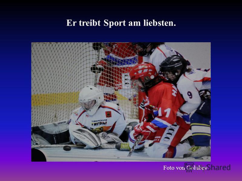 Er treibt Sport am liebsten. Foto von Golubev