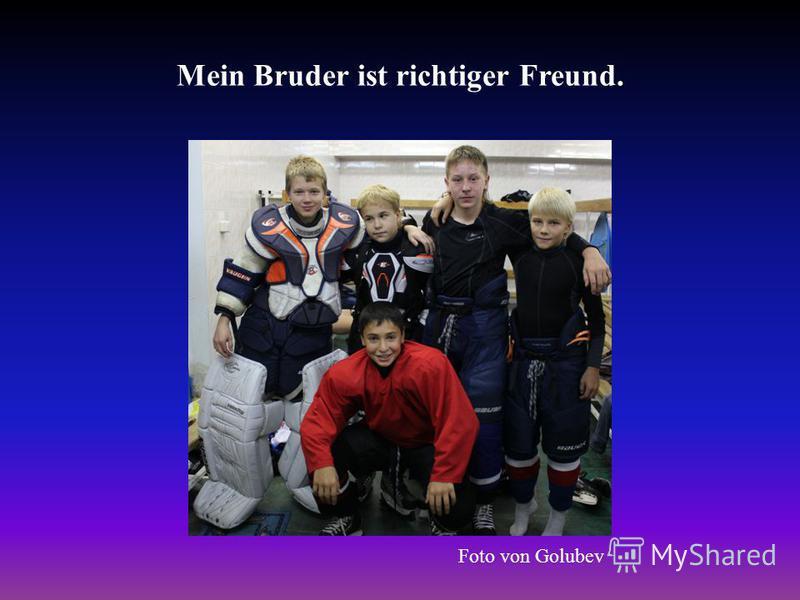 Mein Bruder ist richtiger Freund. Foto von Golubev