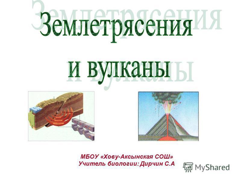 МБОУ «Хову-Аксынская СОШ» Учитель биологии: Дирчин С.А