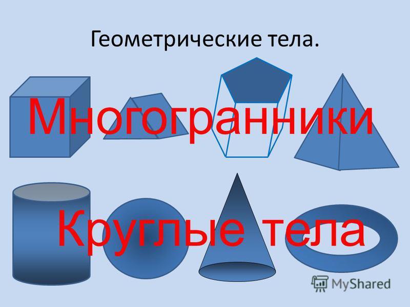 Геометрические тела. Многогранники Круглые тела