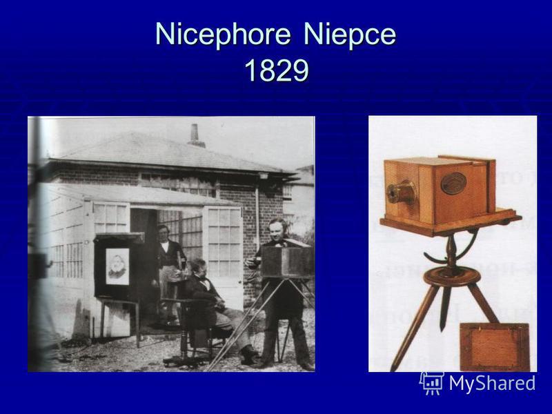 Nicephore Niepce 1829