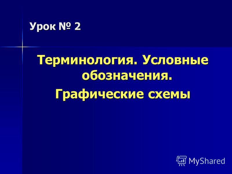 Урок 2 Терминология. Условные обозначения. Графические схемы
