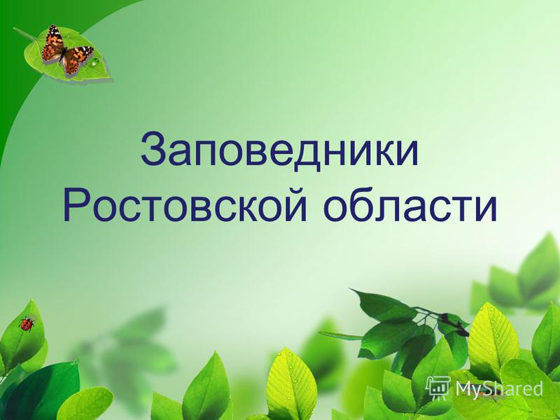 Заповедники Ростовской области