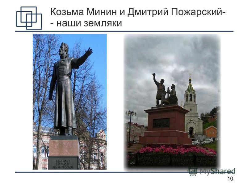 10 Козьма Минин и Дмитрий Пожарский- - наши земляки