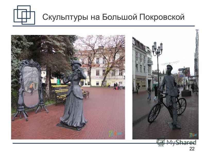 22 Скульптуры на Большой Покровской