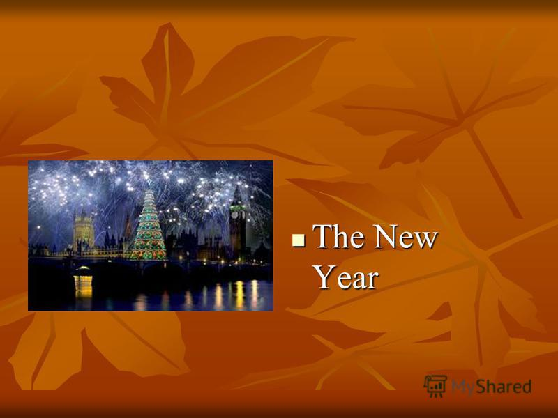 The New Year The New Year