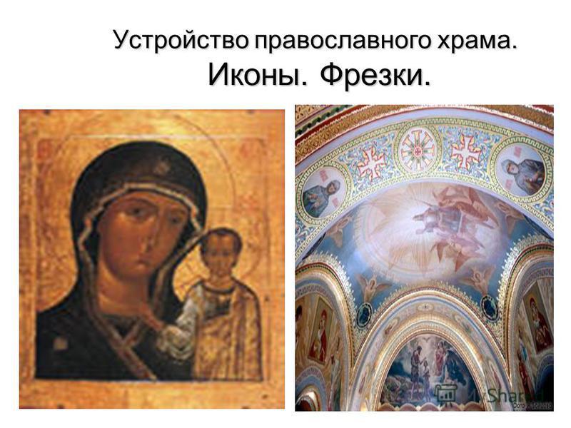 Устройство православного храма. Иконы. Фрезки. Фрески