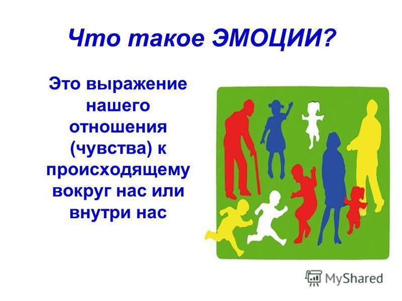 Что такое ЭМОЦИИ? Это выражение нашего отношения (чувства) к происходящему вокруг нас или внутри нас