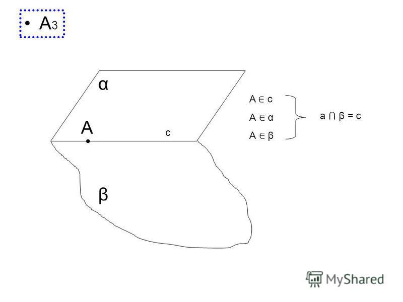 А 3 A c α β A c А α А β a β = с