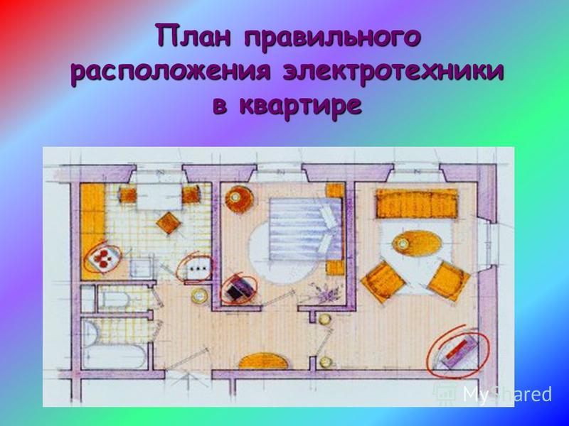 План правильного расположения электротехники в квартире