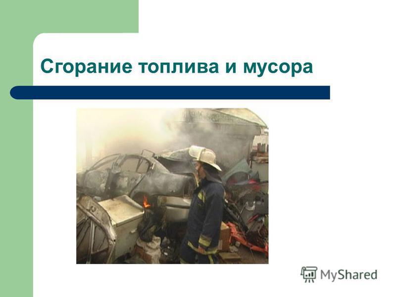Сгорание топлива и мусора