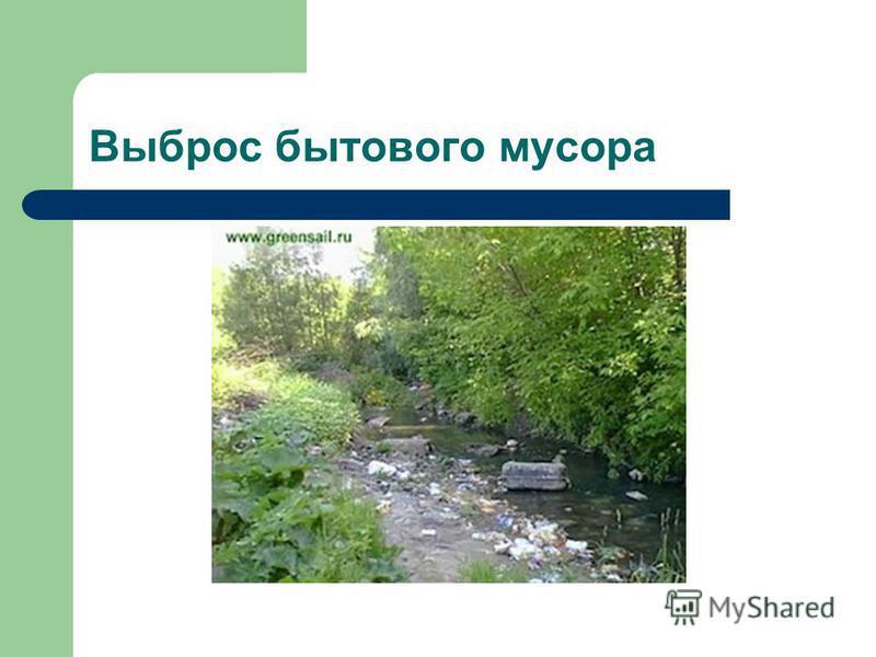 Выброс бытового мусора