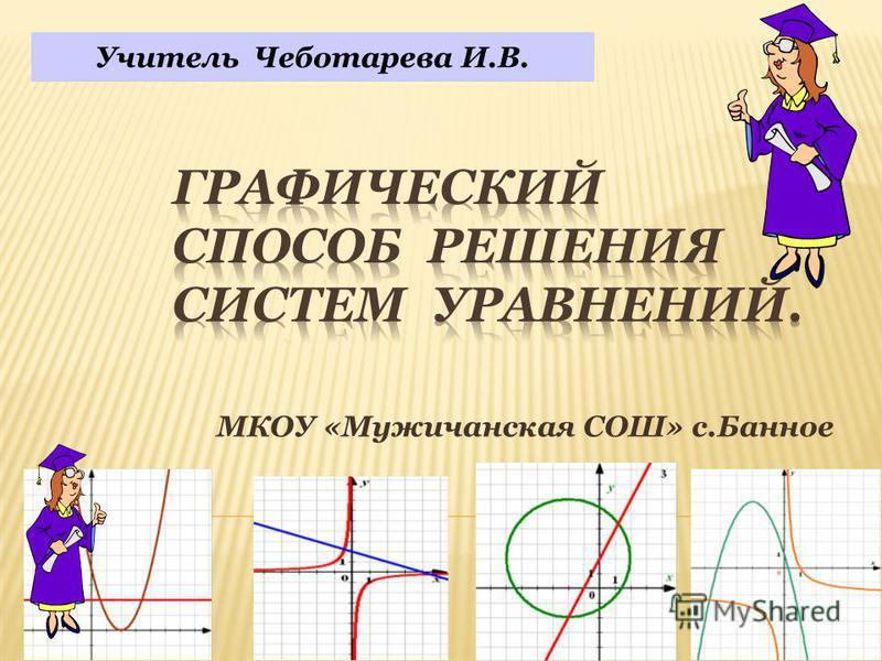 МКОУ «Мужичанская СОШ» с.Банное Учитель Чеботарева И.В.
