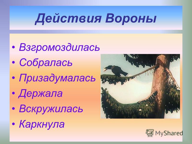 Басня «Ворона и Лисица» Находка Льстец Простофиля