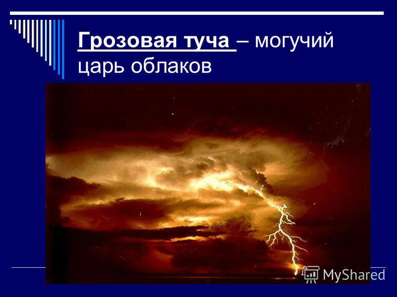 Грозовая туча – могучий царь облаков