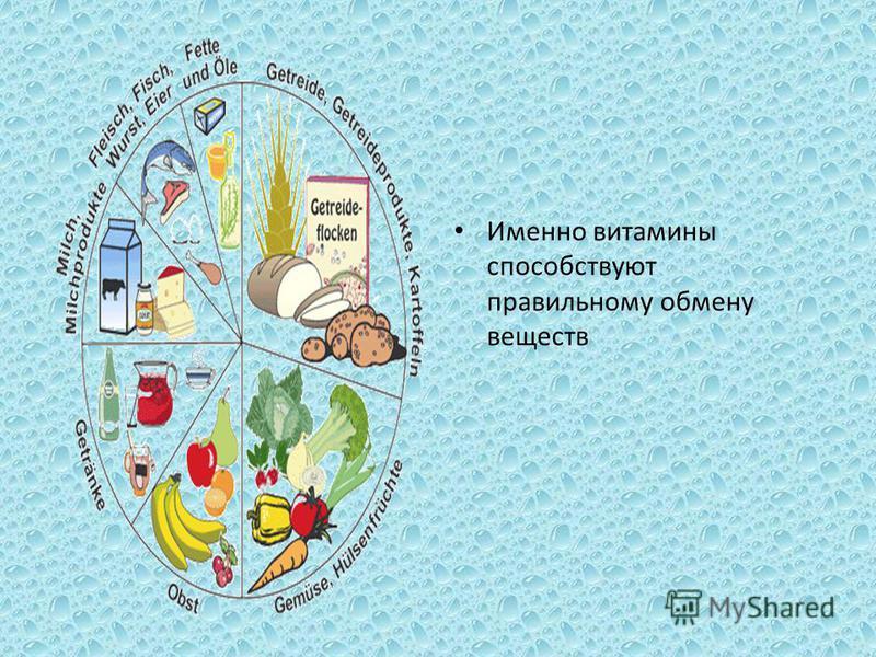 Именно витамины способствуют правильному обмену веществ
