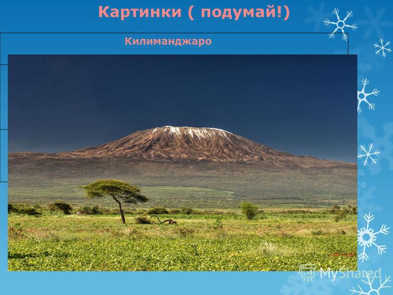 Килиманджаро Картинки ( подумай!)