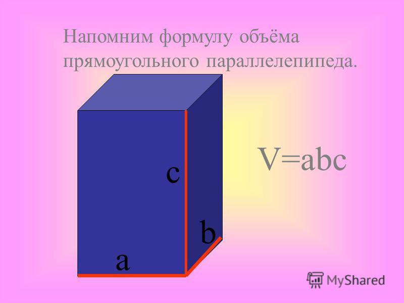 Если тело разбить на части, являющиеся простыми телами, то объем тела равен объему его частей. V V =V 1 +V 2 V 1 V 2 V