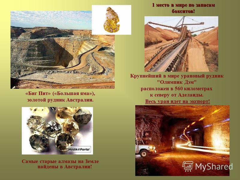 «Биг Пит» («Большая яма»), золотой рудник Австралии. Крупнейший в мире урановый рудник