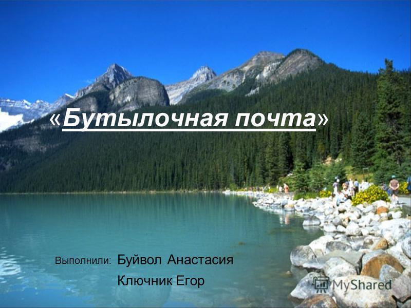 «Бутылочная почта» Выполнили: Буйвол Анастасия Ключник Егор
