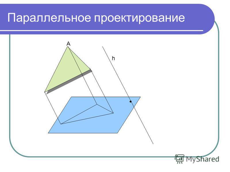 Параллельное проектирование h A