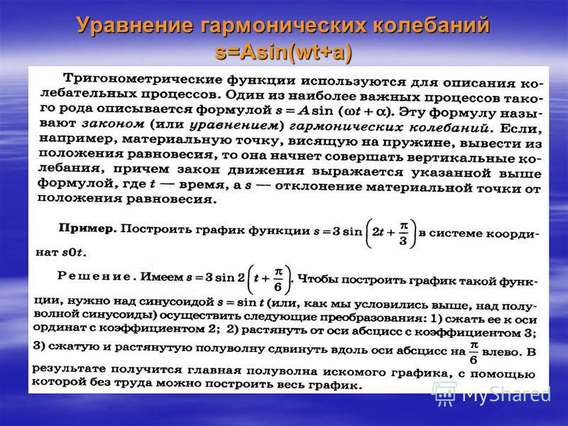 Правило 2. Как построить график функции y= f(kx) если известен график функции y= f(x).