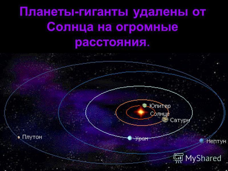 Планеты-гиганты удалены от Солнца на огромные расстояния.