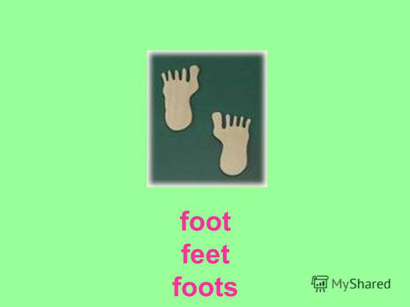 foot feet foots