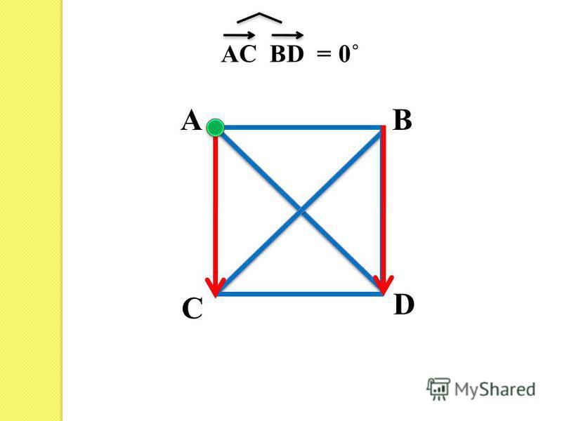 AB C D AС BD =0˚
