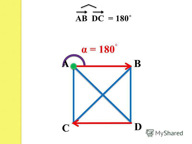 AB C D AB DC =180˚ α = 180