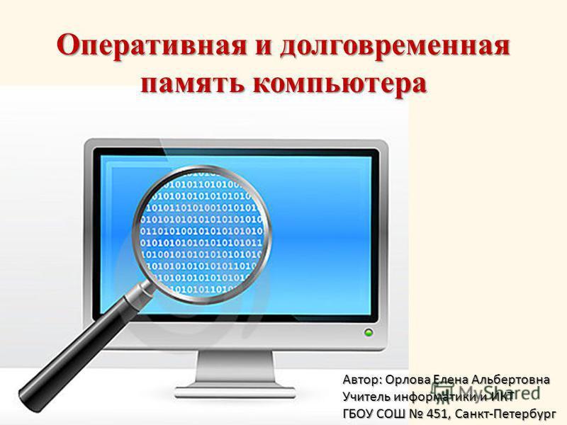 Контрольный тест для 8 класса информатика и икт на тему устройства компьютера