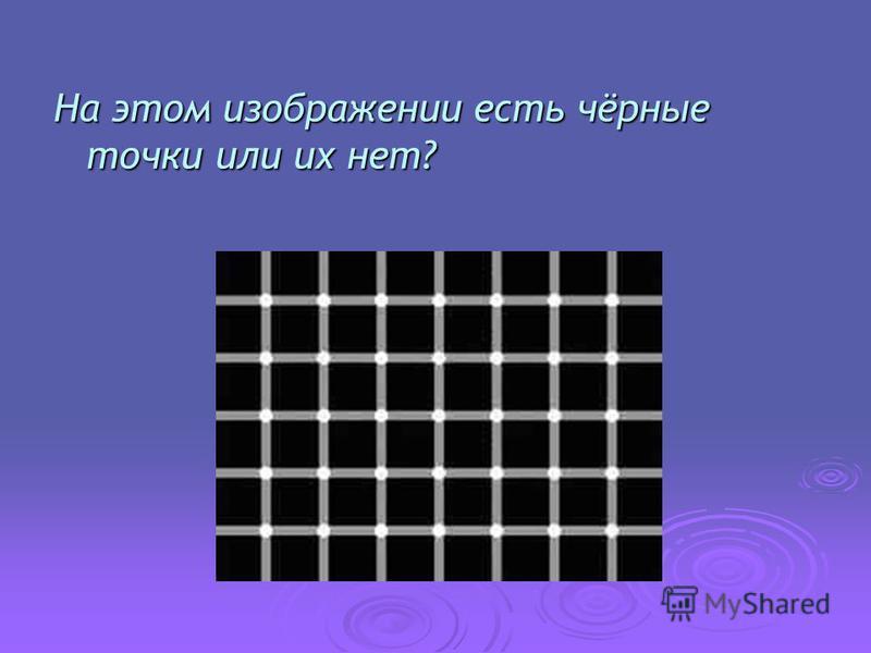 На этом изображении есть чёрные точки или их нет?