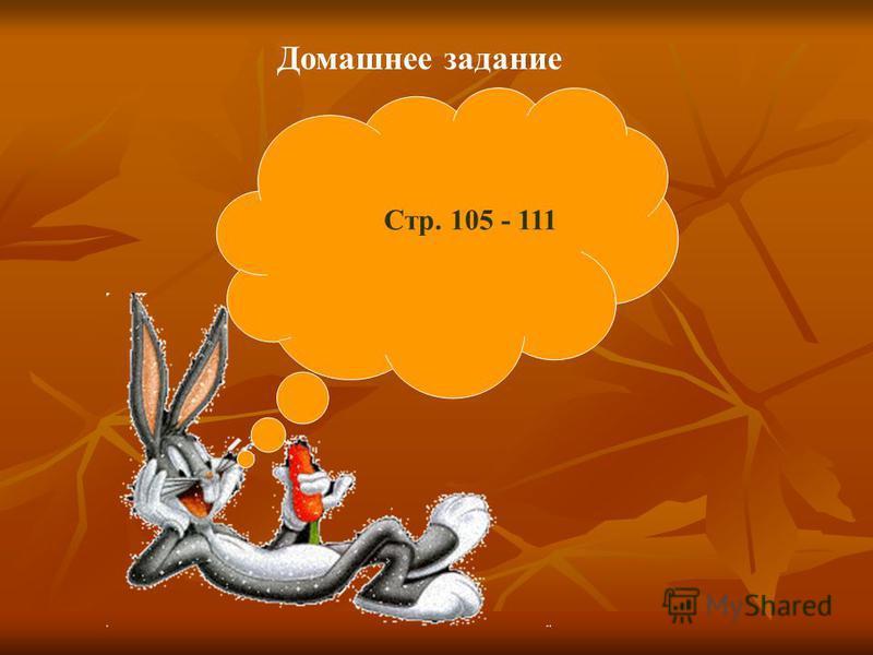 Домашнее задание Стр. 105 - 111