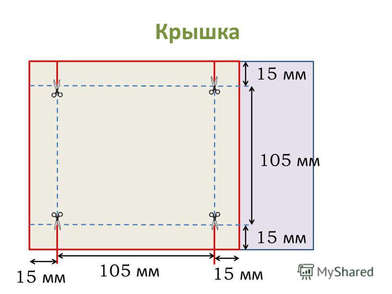 Крышка 5 см 15 мм 105 мм 15 мм 105 мм 15 мм