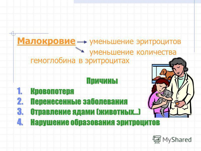 Эритроциты (красные кровяные клетки) 1 мл 3 1 мл 3 – 5 млн. эритроцитов Двояковогнутые диски Не имеют ядра Содержат гемоглобин(придает красную окраску и вступает в соединение с О 2, СО 2, СО) Образуются в красном костном мозге Разрушаются в селезенке