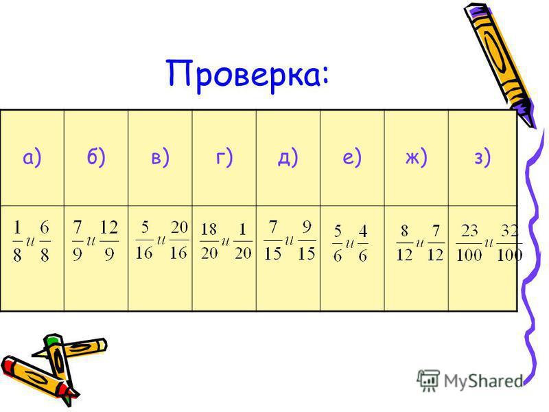 Проверка: а)б)в)г)д)е)ж)з)