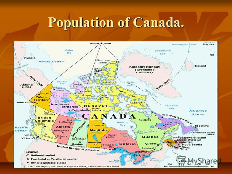 Population of Canada.