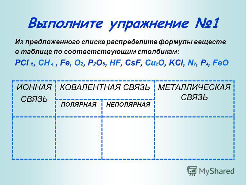 Различают четыре типа химических связей: 1. Ионная связь. Ионная связь.Ионная связь. 2. Ковалентная связь. Ковалентная связь.Ковалентная связь. 3. Металлическая связь. Металлическая связь.Металлическая связь. 4. Водородная связь. Водородная связь.Вод