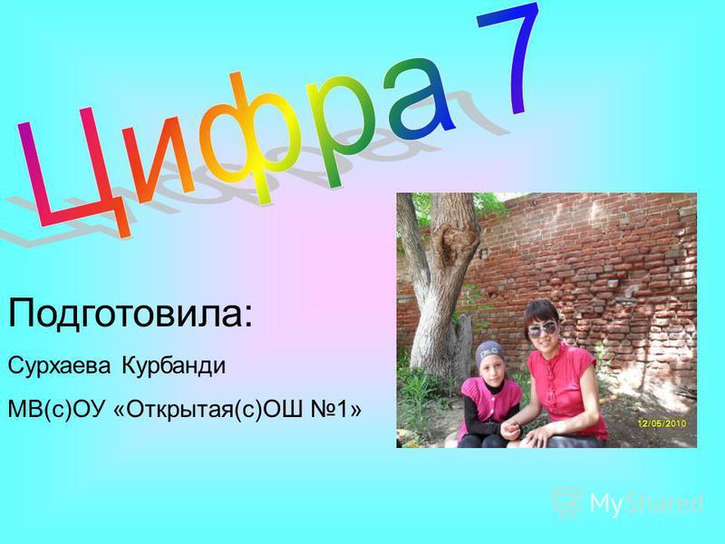 Подготовила: Сурхаева Курбанди МВ(с)ОУ «Открытая(с)ОШ 1»