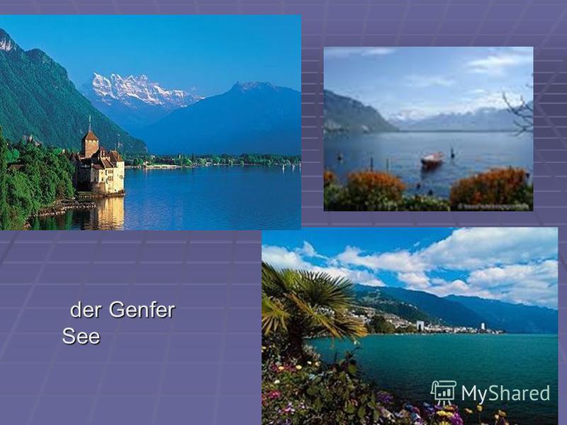 der Genfer See der Genfer See